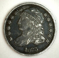 1833 Silver Capped Bust Dime US Type Coin Early 10 Cents XF