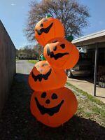 8ft Tall Gemmy Airblown Inflatable Halloween Jack O Lanterns 2002 #20713