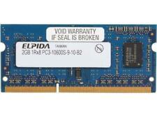 New listing Four (4) Elpida Pc3-10600 2 Gb So-Dimm 1333 Mhz Pc3-10600 Ddr3 Sdram.