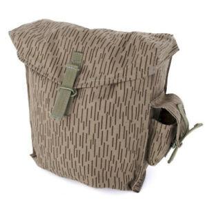 "Gas Mask Pouch Bag Genuine East German New Surplus Raindrop Camo 10""Lx3.5""WX12""H"
