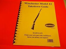 TAKEDOWN MANUAL GUIDE WINCHESTER MODEL 12 Pump Shotgun, nine pages of info