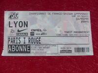 [COLLECTION SPORT FOOTBALL] TICKET PSG / LYON 11 JANVIER 2000 Champ.France