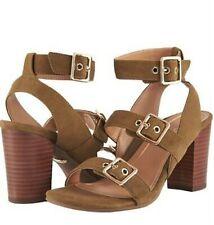 8beb7f11c2b7 Vionic Orthaheel PERK CARMEL Block-Heel Leather Sandals OLIVE Size 9.5 M NIB
