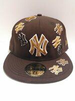 59fifty MLB Brown New York Yankees NY New Era Baseball Hat 7 3/8