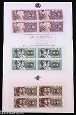 China the 4th Series (Year 1980) Renminbi(RMB) 4-in-1 Uncut Jiao Bills