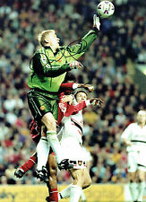 Peter SCHMEICHEL Signed Autograph Manchester United RARE 16x12 Photo AFTAL COA