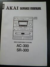 Original Service Manual AKAI AC-300  SR-300