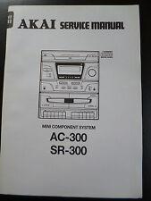 Original Service Manual AKAI AC-300  SR-300