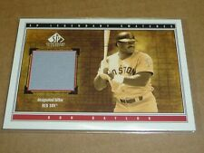 2002 SP Legendary Cuts SWATCHES DON BAYLOR JERSEY RED SOX E4134