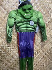Disney Store 7/8 Padded Marvel Incredible Hulk Avengers Costume  NEW