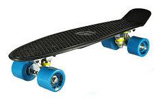 Skate board Planche Fix  plastique Noir  56 cm  Roulements ABEC 7  Rétro Vintage