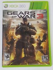 Gears of War 3 Microsoft Xbox 360 2011 Tested Works W/ Sticker Sheet