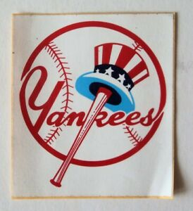 1960's New York Yankees sticker 3 -1/2 x 4 not used. - FLASH SALE