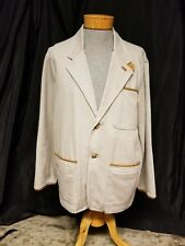 ORVIS MENS TAN CANVAS BLAZER COAT OUTDOOR HUNTING FISHING SIZE M FREE SHIPPING
