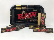 Raw Black Small Medium Rolling Tray Kit Gift Set Classic Organic Hemp UK STOCK