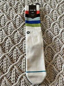 Stance Maliboo Casual Crew socks Striped Men's Large 9 - 13 Mid Cushion NWT