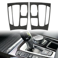 Carbon Fiber Gear Shift Panel Decor Cover Trim Sticker For BMW X5 X6 F15 F16 17