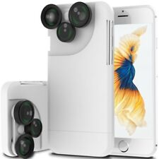 For iPhone X 8 6 7 Plus Case 4 in1 Camera Lens Kit Fisheye Macro Wide Angle Lens