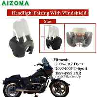 ABS Front Headlight Fairing Clear Windshield Motorcycle For Harley Dyna T-Sport