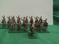 "HINCHLIFFE 25/28mm NAPOLEONIC FRENCH ""EMPRESS' DRAGOONS"" X 14 PAINTED USED"
