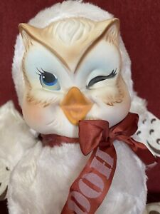 Vintage Rushton Star Creations Hooty Owl Super RARE Rubber Face Very Nice Clean