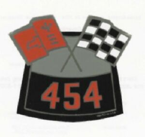 Chevrolet 454 Cross Flag Air Cleaner Decal
