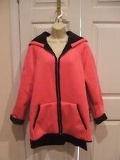 nwt a.n.a $ 150 funky fuschia faux fur lined coat jacket  VERY WARM size plus 0x