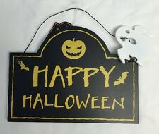 Halloween ~ Wooden Sign/Plaque ~ HAPPY HALLOWEEN/OUT OF TREATS ~ Double Sided