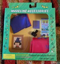 "NIB 8"" Madeline Doll's Travel Set: Passport, Camera, Suitcase, Pepito's Photo +"