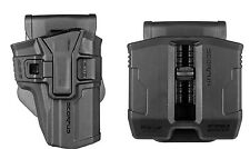 Sig Sauer P226 Models OWB Level 1/2 Polymer Holster & Double Magazine Pouch