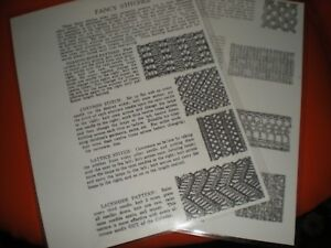 Sock Knitting Machine{ fancy stitches} 4 pages laminated  COPY