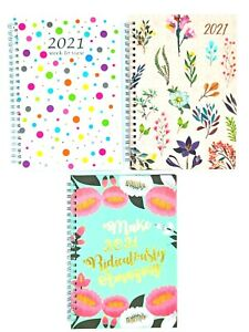 2021 A5 Week To View Diary Office Organiser Home Daily Planner Hardback Wiro
