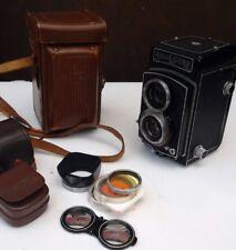 ROLLEICORD III reflex bi-objectif appareil photo-Modèle K3B-Schneider Xenar f3.5 75 mm Lens + Extras