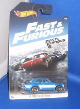 FAST & FURIOUS 6 MOVIE '70 FORD ESCORT 6 OF 8 MATTEL COLLECTIBLE CAR, NEW