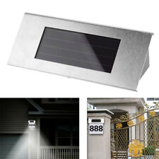 LED Waterproof Number Doorplate Solar Lamp Outdoor House Wall Indicating Lights