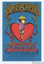Bill Graham 136 Postcard Big Brother & the Holding Santana 1968 Sep 19