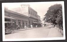 VINTAGE 1934 PHOTOGRAPH MEXICO STREET SCENE OLD CAR MOVIE SHOW THEATRE PHOTO