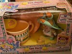 Vintage Uneeda Tea Bunnies Tea Bunny & Me Tea Party Rose Bonnet #81007 NIB