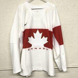 TEAM CANADA IIHF MENS HOCKEY JERSEY SIZE 60 (XXX-Large) WHITE PROMO RARE NEW