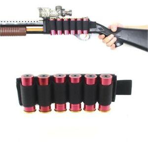 Tactical Hunting 6 Rounds Shotgun Shell 12 Gauge Ammo Carrier Holder Card Strip