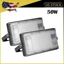 2 x 50W LED Flood Light SMD Outdoor Fixture Warm White Garden Building Yard Lamp