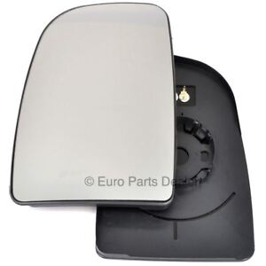 Left passenger side mirror glass with clip for Fiat Ducato 2007-20 Heated