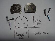 fers à chaussure LULU 121 (paire) 19,5 mm par 19,5 mm avec semences 10 mm