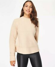 Sweaty Betty Elevate Wool Crew Neck Jumper Size S Colour Lily white
