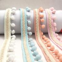 Trim Pom Pom Tassel Fringe Cloth Dress DIY Sewing Trims Crafts Wedding Decor
