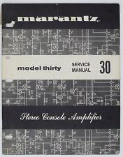 Marantz Modèle Thirty / 30 Original Amplificateur Stéréo Manuel de Service /