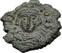 CONSTANS II 641AD Follis Syracuse Sicily Ancient Medieval Byzantine Coin i58373