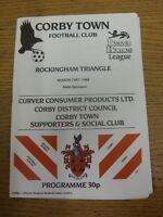 02/04/1988 Corby Town v Nuneaton Borough  (Team Changes). Footy Progs/Bobfrankan