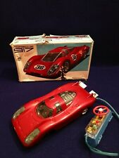 RARE VINTAGE NOS JAPANESE BATTERY OPERATED TOY CAR PORSCHE 917 ORIG BOX! JAPAN