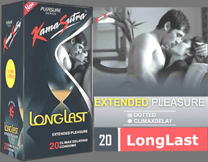 🇬🇧 20 X Kamasutra dotted Lubricated Long last extended  Climax Delay condoms